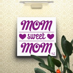 Lienzo Mom Sweet Mom morado