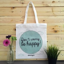 "Bolsa multiusos ""Don't Worry be happy!"""