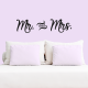 "Vinilo decorativo pared ""Mr & Mrs"""
