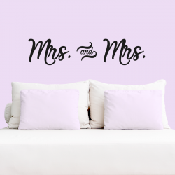 "Vinilo decorativo pared ""Mrs & Mrs"""