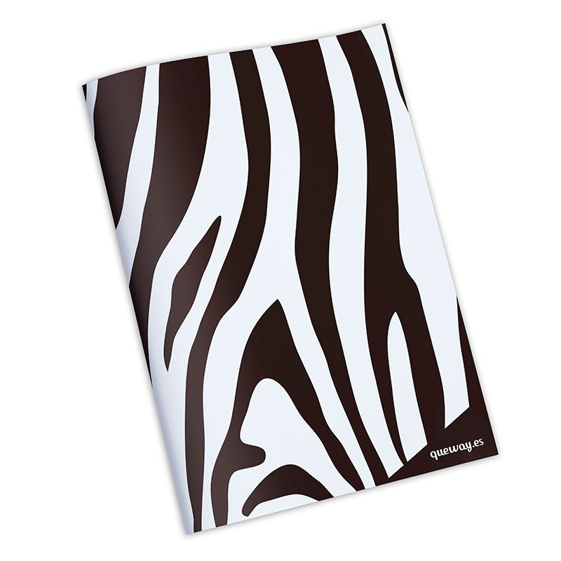Cuaderno animal print cebra